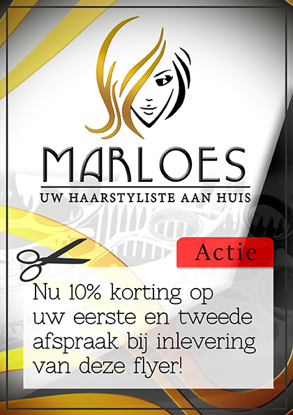 Flyer design Marloes haarstyliste