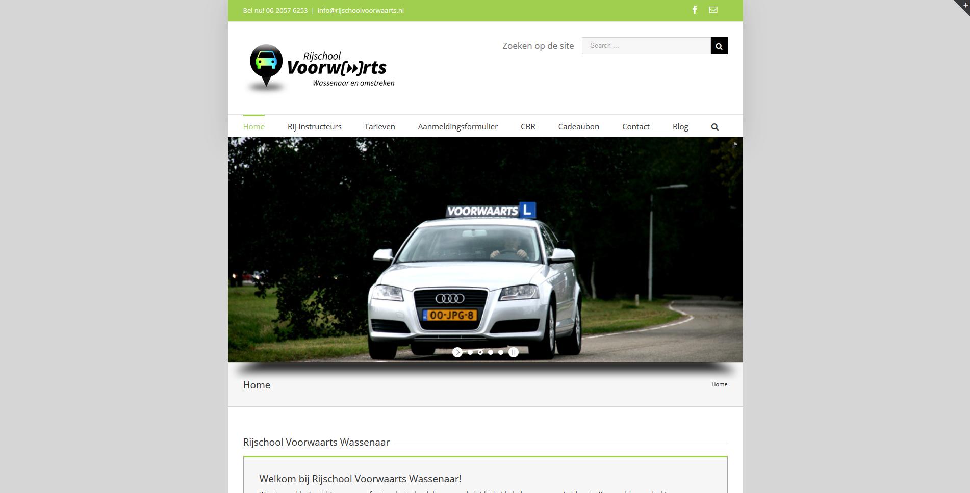 Webdesign voor rijschoolvoorwaarts.nl